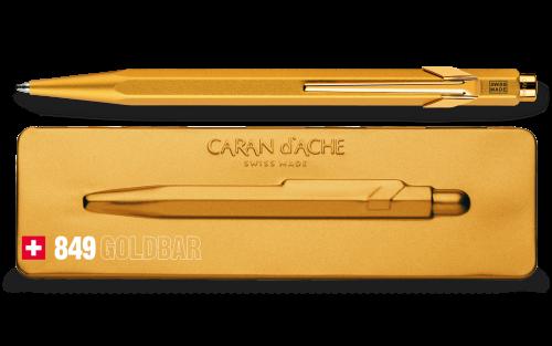 Caran d'Ache 849 Goldbar Kugelschreiber mit Etui