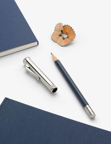 Graf von Faber-Castell 'Perfekter Bleistift' blau/platiniert