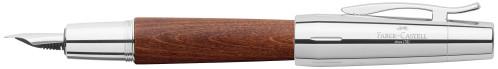 Faber-Castell E-MOTION Holz braun/Metall glanz Füllhalter