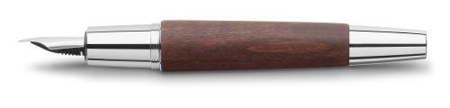 Faber-Castell E-MOTION Holz dunkelbraun/Metall glanz Füllhalter