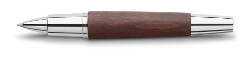 Faber-Castell E-MOTION Holz dunkelbraun/Metall glanz Roller