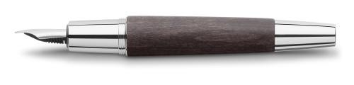 Faber-Castell E-MOTION Holz schwarz/Metall glanz Füllhalter