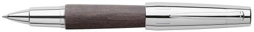 Faber-Castell E-MOTION Holz schwarz/Metall glanz Roller