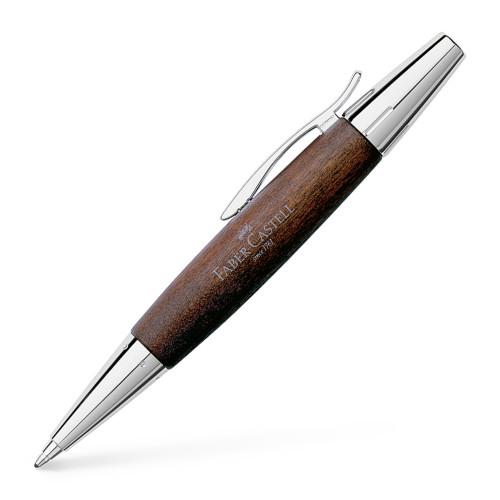 Faber-Castell E-MOTION Holz dunkelbraun/Metall glanz Kugelschreiber