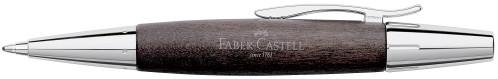 Faber-Castell E-MOTION Holz schwarz/Metall glanz Kugelschreiber