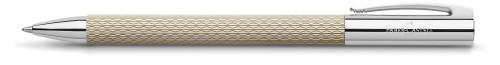 Faber-Castell AMBITION Edelharz Sand white Kugelschreiber