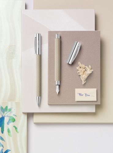 Faber-Castell AMBITION Edelharz Sand white Füllhalter