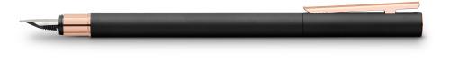 Faber-Castell NEO Slim Metall schwarz, rosegoldfarben Füllfederhalter