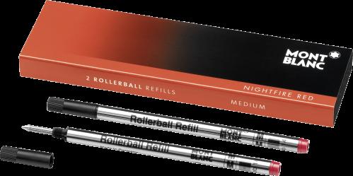 2 Montblanc Rollerball-Minen (M) Nightfire Red
