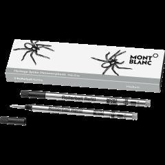 2 Montblanc Rollerballminen (M), Heritage Spider, Grau