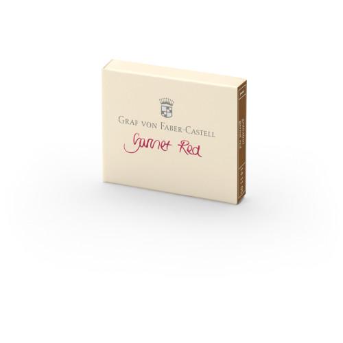 Graf von Faber-Castell Tintenpatronen - granatrot