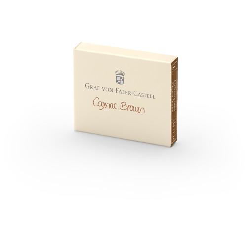 Graf von Faber-Castell Tintenpatronen - cognac braun