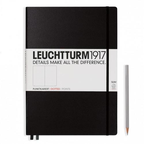 Leuchtturm Slim Master A4+ Hardcover schwarz