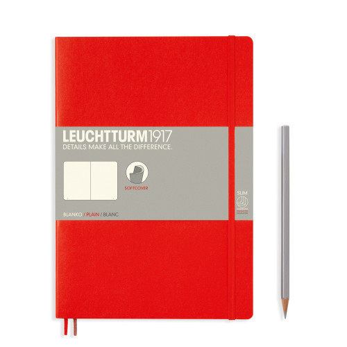 Leuchtturm Composition B5 Softcover rot