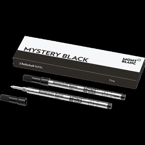 2 Montblanc Rollerball-Minen (F) Mystery Black