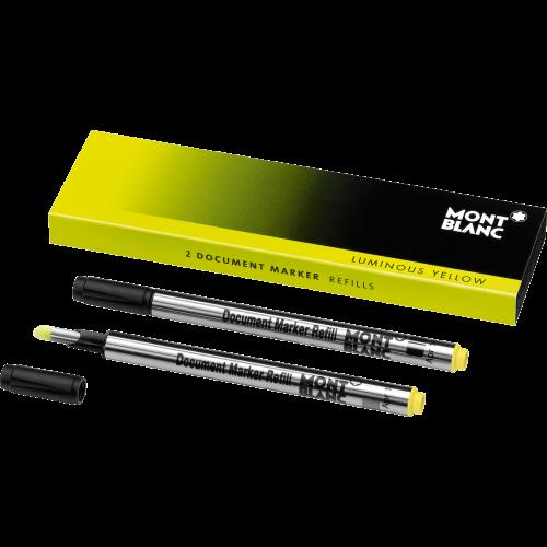 2 Montblanc Dokumentenmarker-Minen Luminous Yellow