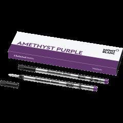 2 Montblanc Rollerball-Minen (M) Amethyst Purple