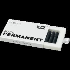 Montblanc Tintenpatronen, Permanent Black, 8er-Pack, DIN ISO 14145-2