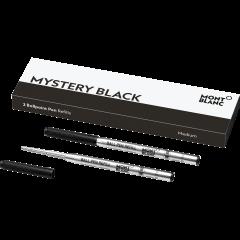 2 Montblanc Kugelschreibermine (M) Mystery Black