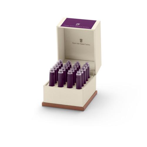 Graf von Faber-Castell Tintenpatronen in Geschenketui - violett
