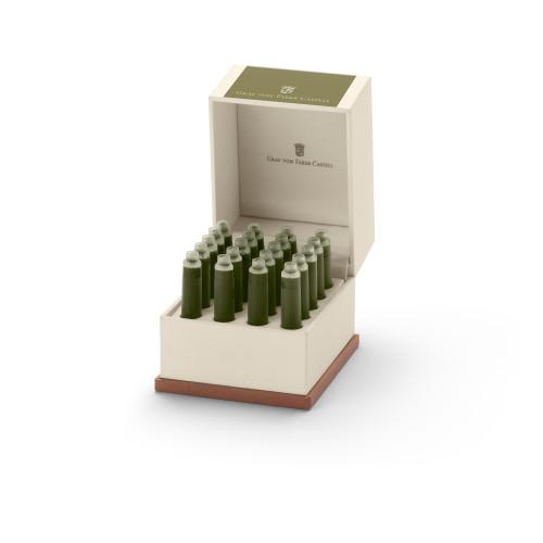 Graf von Faber-Castell Tintenpatronen in Geschenketui - olive grün