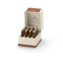 Graf von Faber-Castell Tintenpatronen in Geschenketui - cognac braun