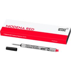 schreibkultur-montblanc-124518 - 1 rollerball capless system refill (M) modena red