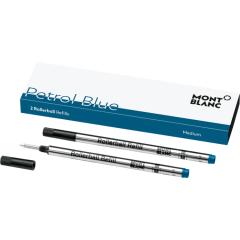 schreibkultur-montblanc-119610-2 rollerball refills-petrol blue