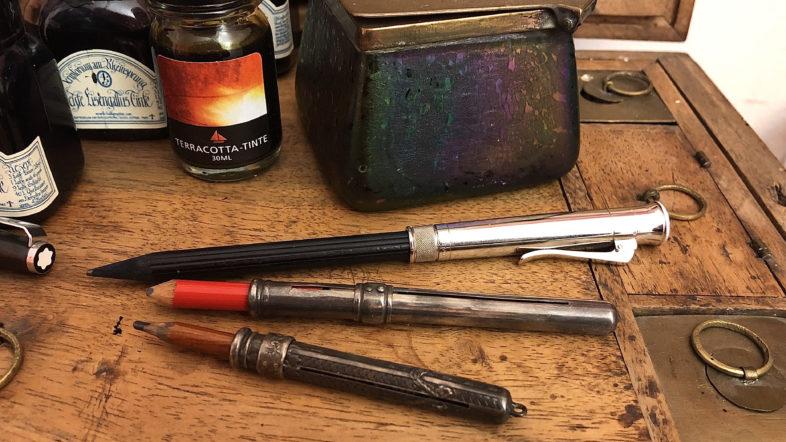 historische Bleistiftverlängerer