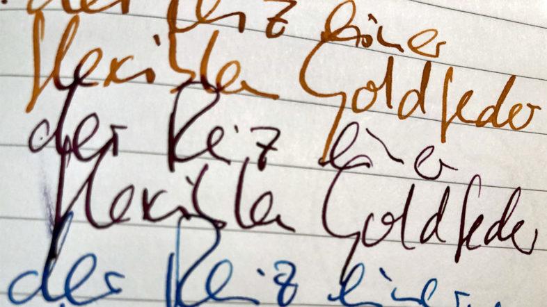 Handschrift Flexible Goldfeder