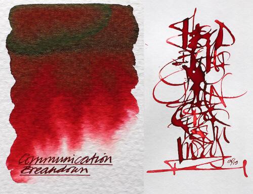Diamine Tinte communication breakdown