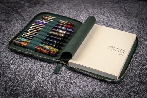 Schreibmappe A5 10-teilig Leder braun