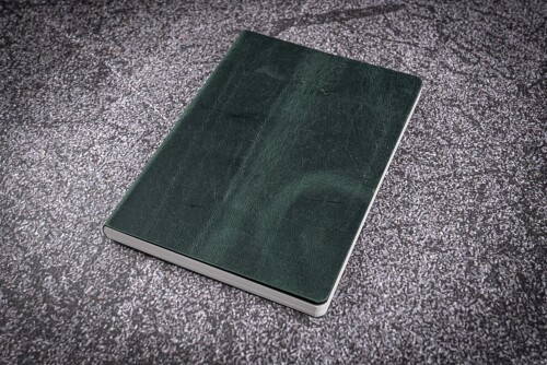 Notizbuch A5 Leder gruen