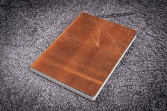 Notizbuch A6 Leder braun