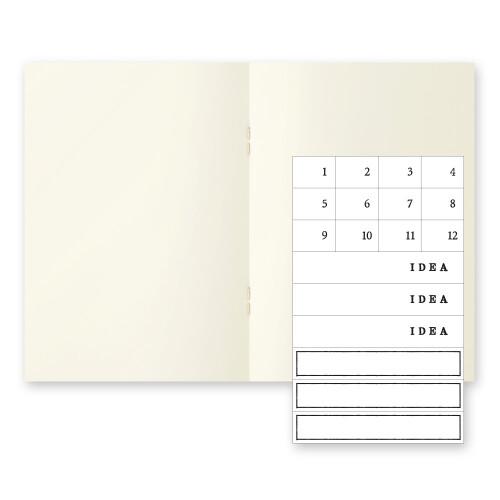 MD Paper Notebook A6 3er Set blanco