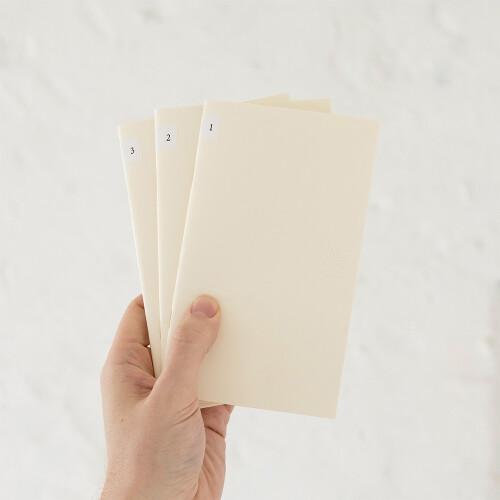 MD Paper Notebook b6 3er Set blanco