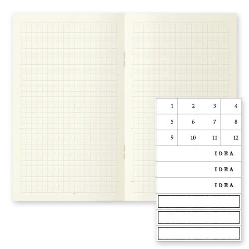 MD Paper Notebook b6 3er Set kariert