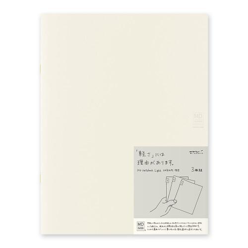 MD Notebook Light 3er Set A4 liniert