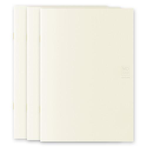 MD Paper Notebook Light A5 3er Set blanco
