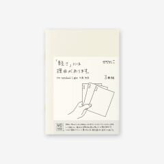 MD Paper Notebook light 3er Set A6 blanco