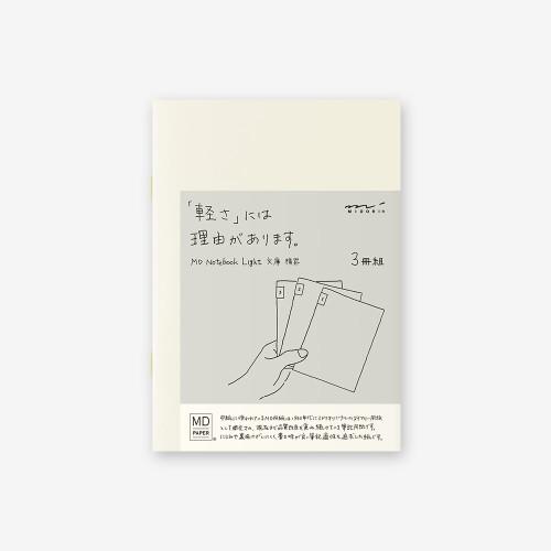 MD Paper Notebook light 3er Set A6 liniert