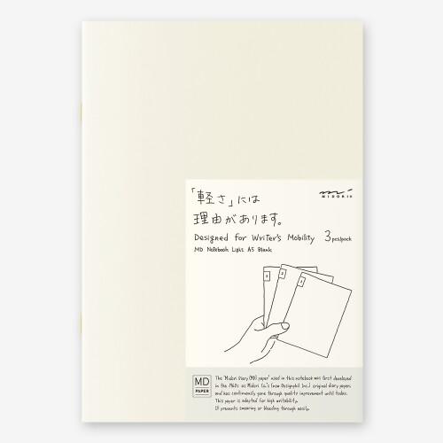 MD Paper Notizbuch light 3er Set A5 blanco