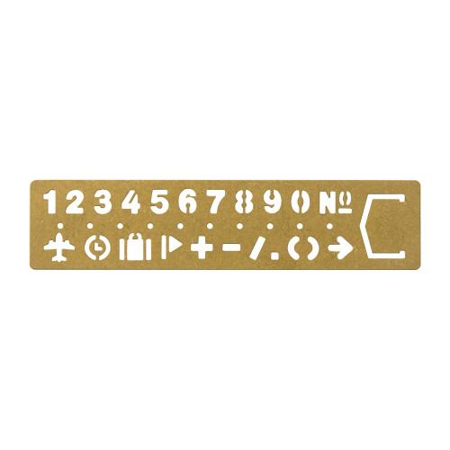 TRC Brass Schablone Zahlen