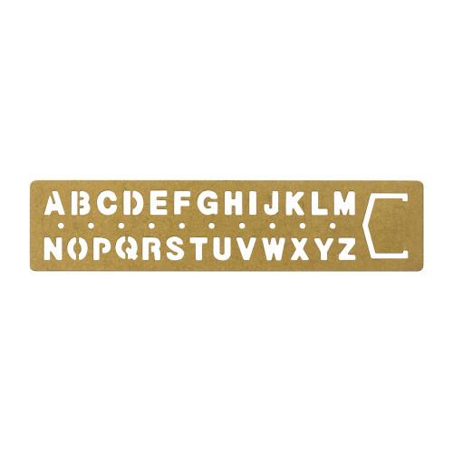 TRC Brass Schablone Alphabet gross