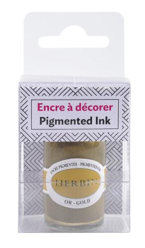 Herbin Kalligraphietinte pigmentiert gold