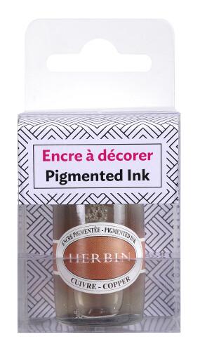 Herbin Kalligraphietinte pigmentiert kupfer