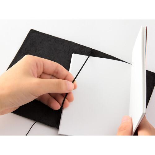 Travelers Notebook Passport Size Lederhülle schwarz