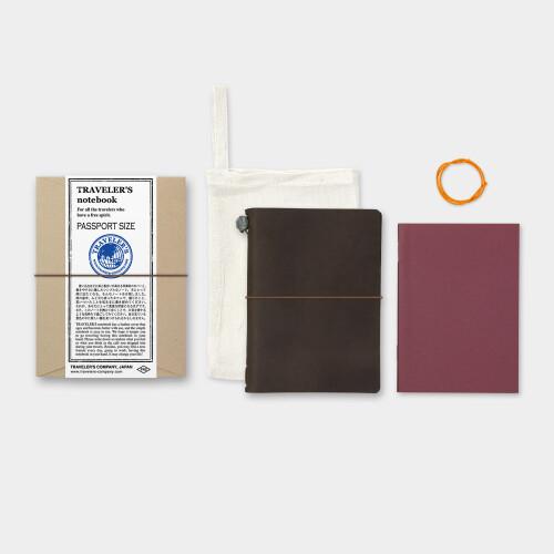 Travelers Notebook Passport Size Lederhülle dunkelbraun