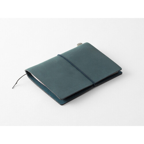 Travelers Notebook Passport Size Lederhülle blau