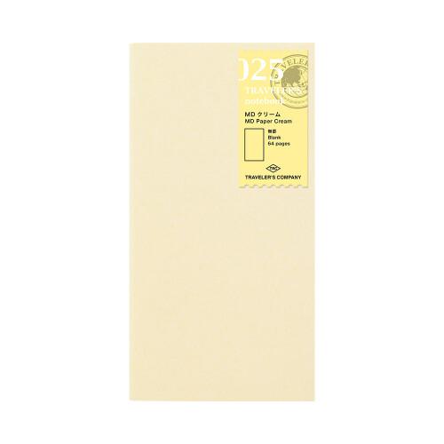 Travelers Notebook Refill MD Paper cream blanko 025